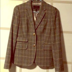 NWOT JCrew School Boy jacket in plaid